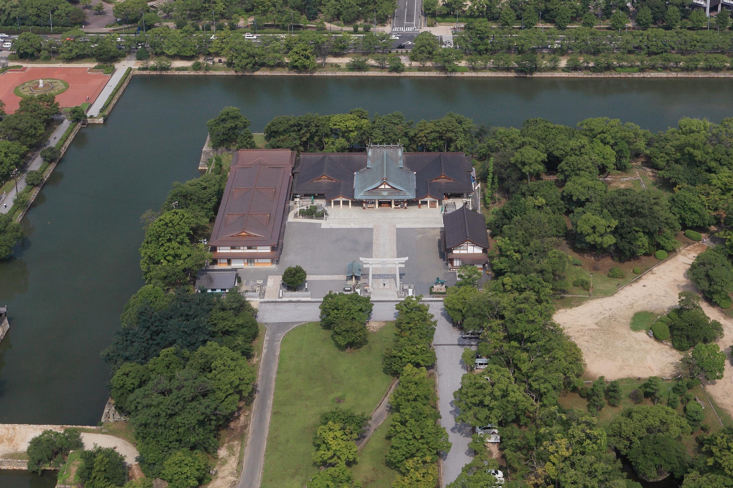 写真:広島護国神社社務所及び直会殿