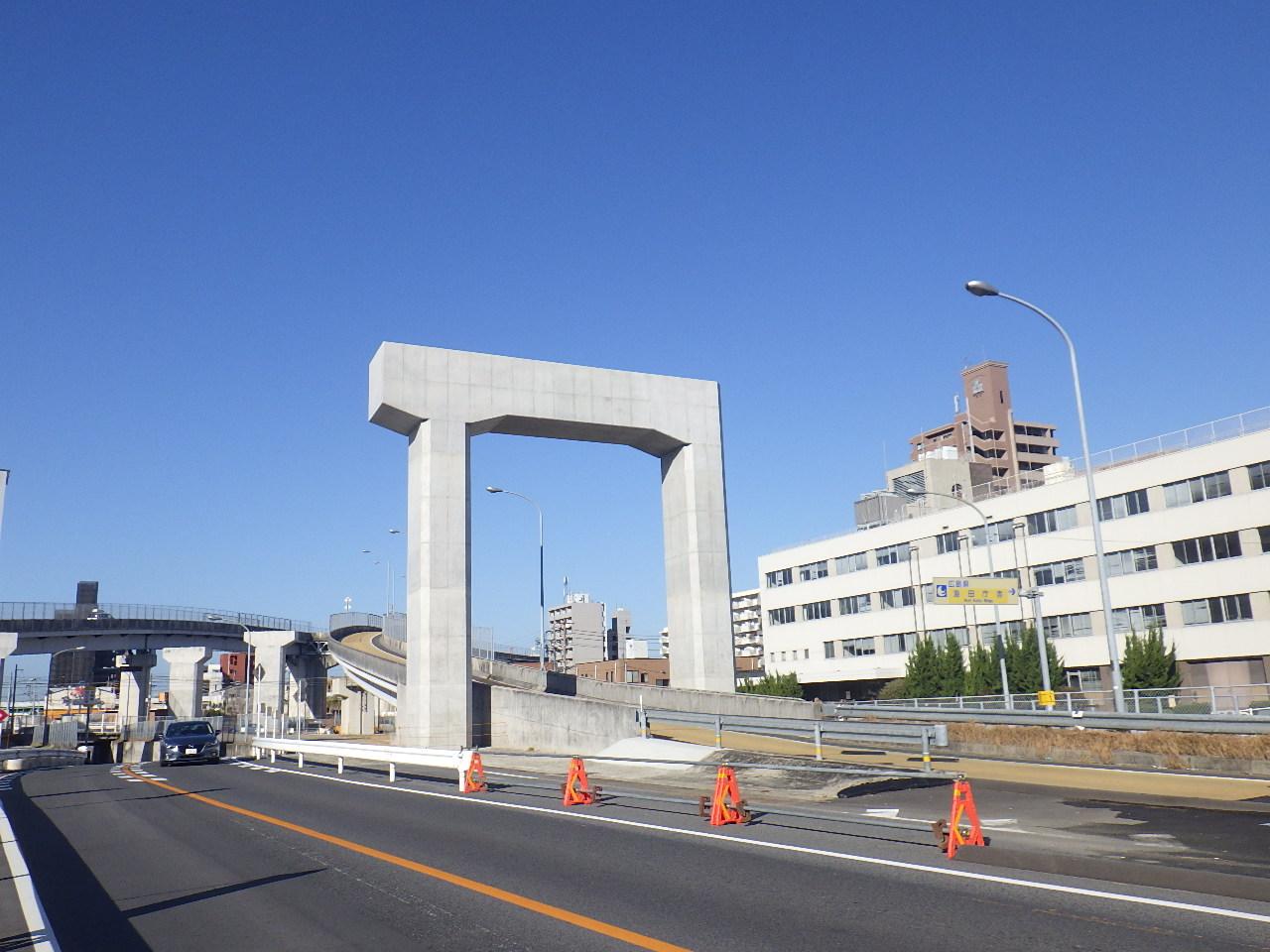 写真:東広島バイパス海田高架橋第10下部工事