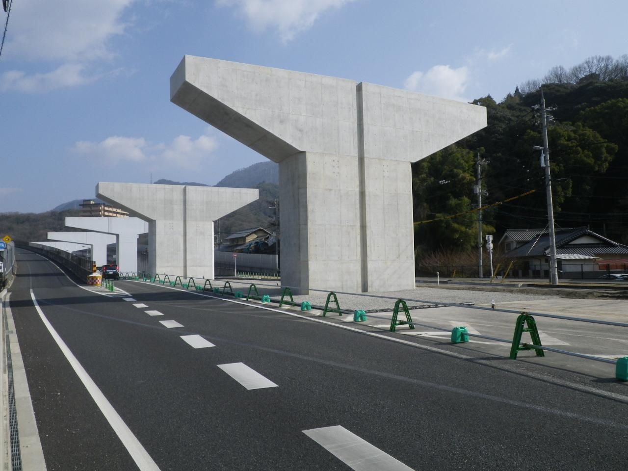 写真:東広島バイパス海田高架橋第11下部工事