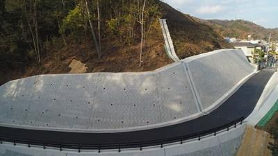 写真:広島西部山系上温品3号管理用道路工事