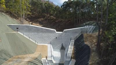 写真:広島西部山系301渓流砂防堰堤工事①