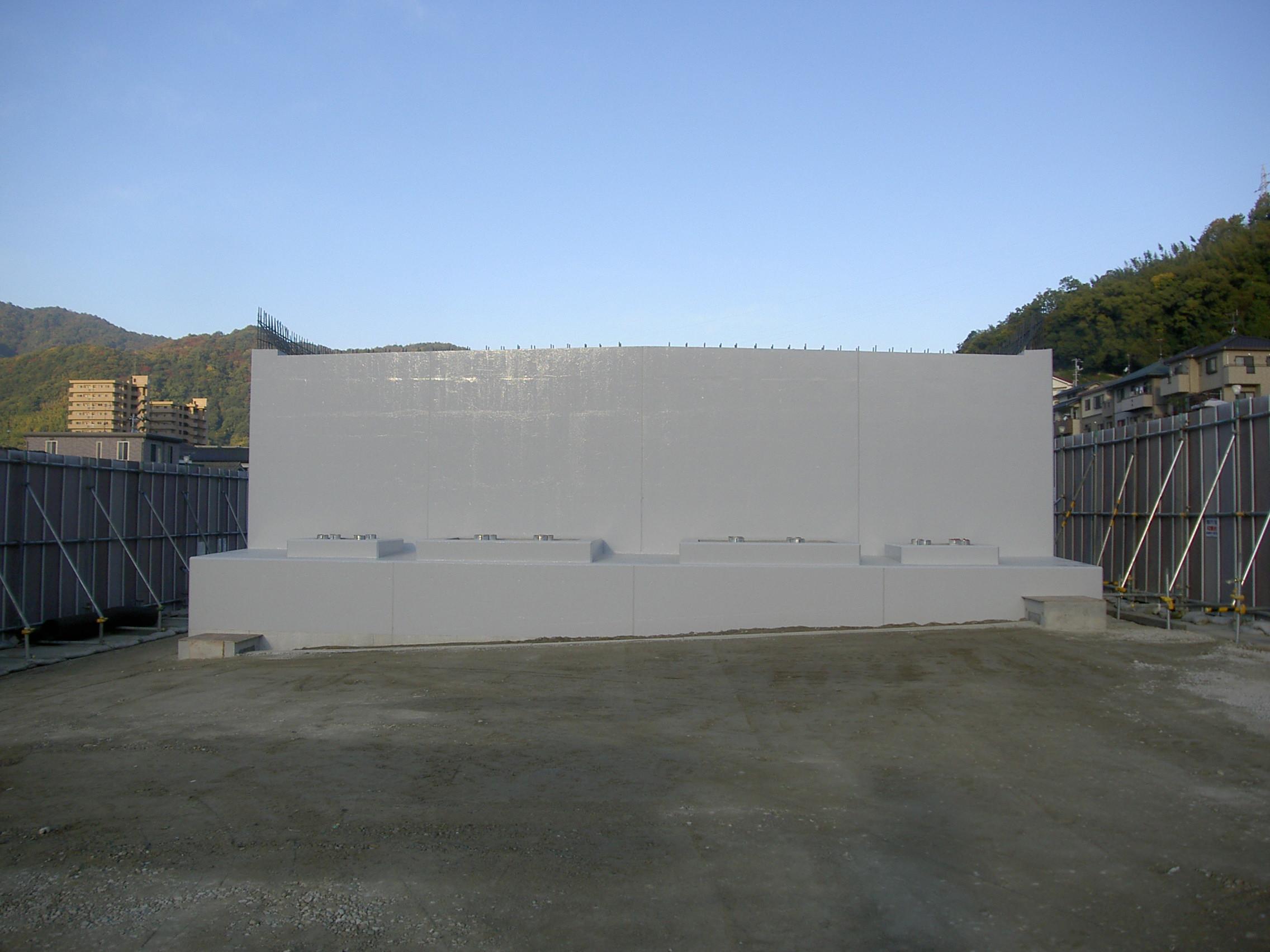写真:東広島・呉道路阿賀ICランプ橋第4下部工事